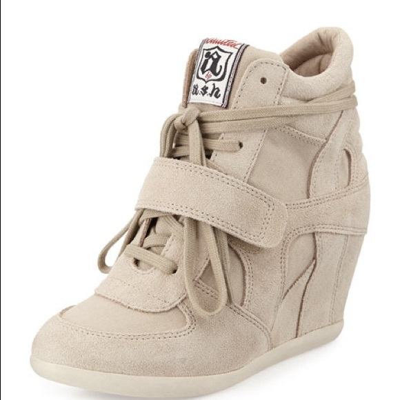 4e3d27c4cd308 Ash Shoes - Ash Bowie Wedge Sneaker in Sand